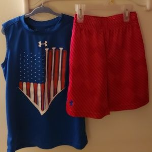Boy's Under Armour Shirt & Shorts